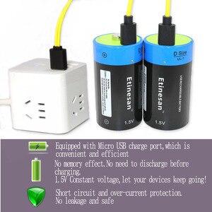 Image 4 - 4 個 1.5 v リチウムリチウムポリマー 9000mWh D サイズ充電式バッテリー D 型電池 + USB 充電ケーブル