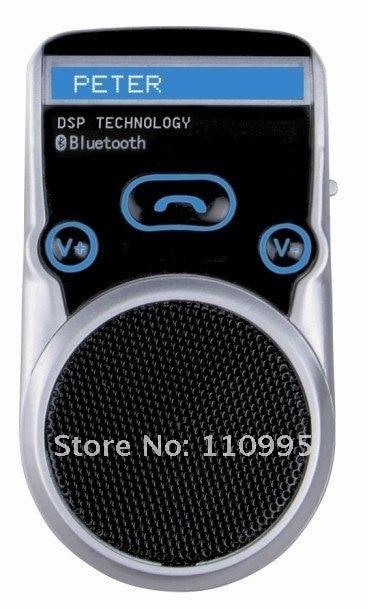 Solar Powered Bluetooth car kit handsfree, built in Speaker,microphone