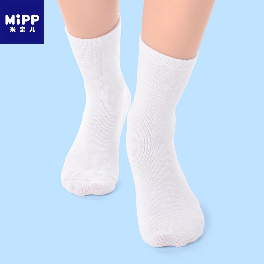 6 Paren / partij MIPP Baby Wit Kid Sokken Lente Zachte katoen - Kinderkleding - Foto 1