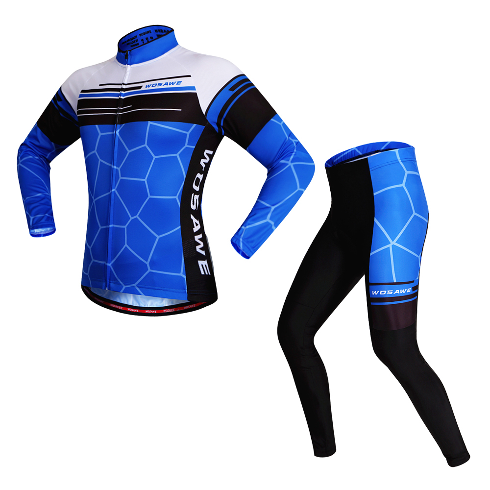 WOSAWE Long Pro Team Cycling Jersey Full Outdoor Sport Suits Mtb Bicycle Bike Summer Protective Cycling Clothes ropa ciclismo cycling jersey bike clothing ropa ciclismo wosawe long sleeve outdoor sport suits mtb bicycle summer bike cycling clothing set