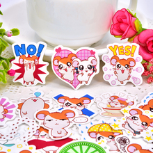 40pcs Cute Little Hamster Hamtaro Sticker Self-made Scrapbooking Decorative  decoration /waterproof paper stickers юбка self made self made mp002xw19hqw