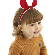 Candygirl Big Rabbit Ears Headband Boutique Hairband Cloth Hair Hoop Bow Knot Bands Ladies Women Girls Turban Accessories