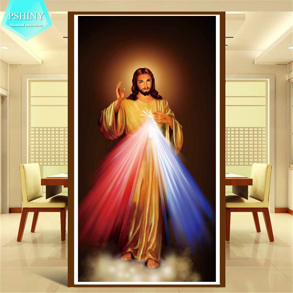 Home Interior Jesus: ᗔPSHINY 5D DIY Ξ Diamond Diamond Embroidery Jesus Christ