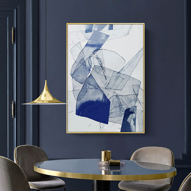 Abstract Watercolor Blue Poster And Print Nordic Canvas Paintings Wall Art Pictures Living Room Office Home Decor