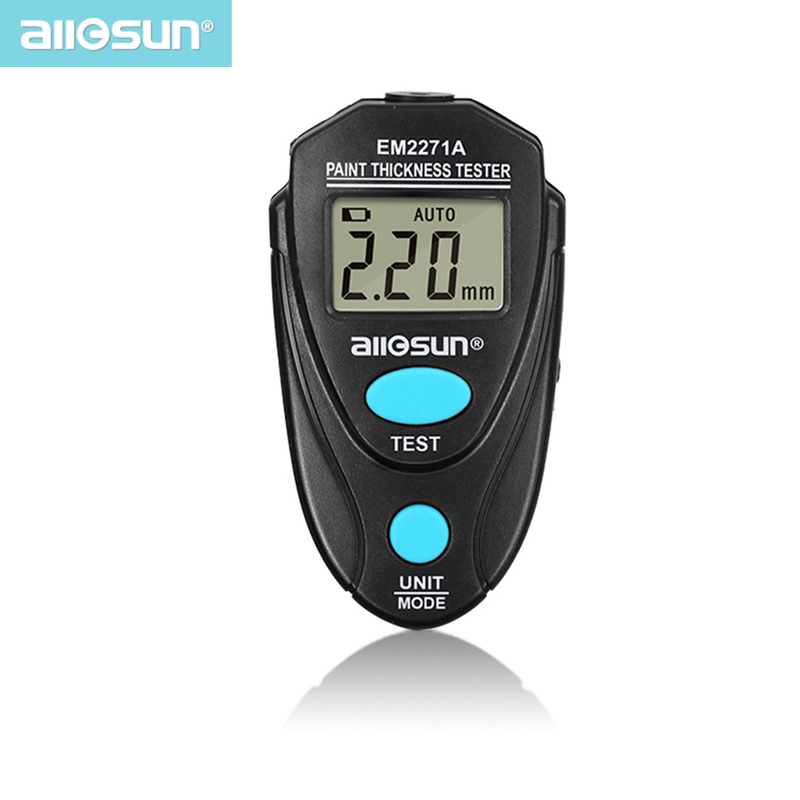 All-sun EM2271A Digital Thickness Gauge Coating Meter  Fe/NFe 0.00-2.20mm For Car Thickness Meter  Russian Manual