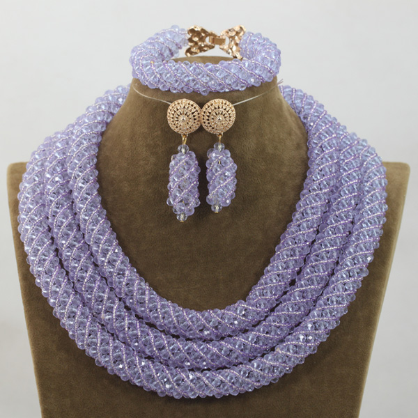 Romantic Lilac/Royal Blue Crystal Jewelry Nigerian African Wedding Bridal/Women Beads Necklace Jewelry Set Free Shipping ANJ219 диван rival руана royal rose shaggy lilac