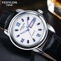 2016 Top Luxury Brand Men Leather Business Watches Mens Waterproof Calendar Quartz Watch Gift Watches Clock Hodinky reloj hombre