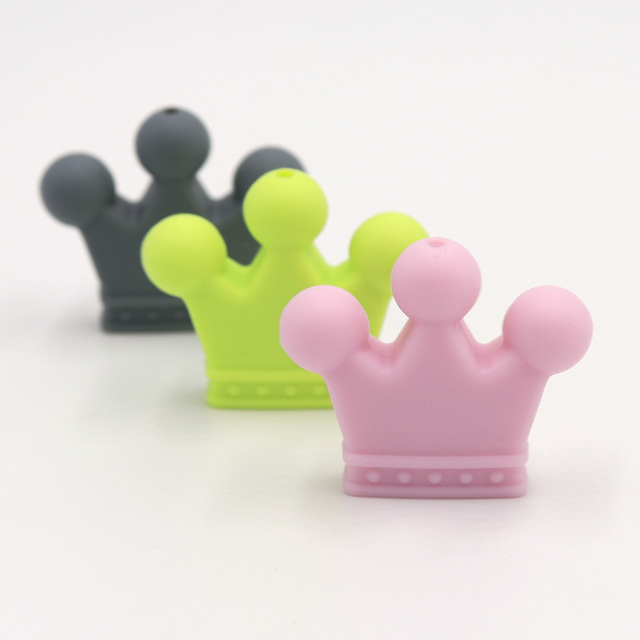 Crown Shaped Silicone Baby Teething Bead