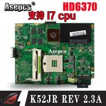 Asepcs K52JR REV2.3A материнская плата для ноутбука ASUS K52JU K52JT K52JB K52JE K52J A52J X52J Тесты оригинальная материнская плата HD6370 512 М