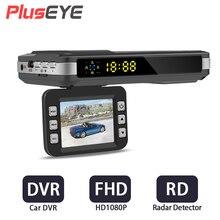 (С русский и английский голос) 2 в 1 Видеорегистраторы для автомобилей Антирадары 1080 P автомобиля Камера Регистраторы детектор автомобиля видео регистратор HD видеокамера