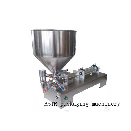 LT Single Nozzle Paste Filling Machine Small Hopper Rotary