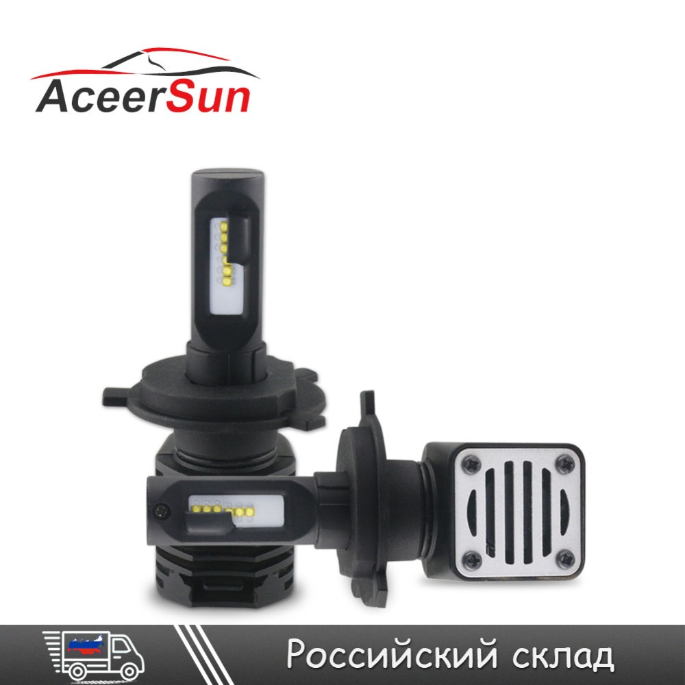 Aceersun H7 LED H4/HB2/9003 Car LED Lamp Headlight Bulb 10000LM 12V 80W Auto Fog Light H8/H9/H11 HB3/9005 HB4/9006 Hi-Lo Beam zdatt 2pcs 12000lm car led headlights h4 h7 h8 h11 9005 hb3 canbus auto led bulb hi lo beam 100w pair 12v fog lamp automobiles