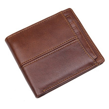 Genuine Leather RFID Blocking Wallet for Men Excellent as Travel Bifold Card Case R-8107-3Q