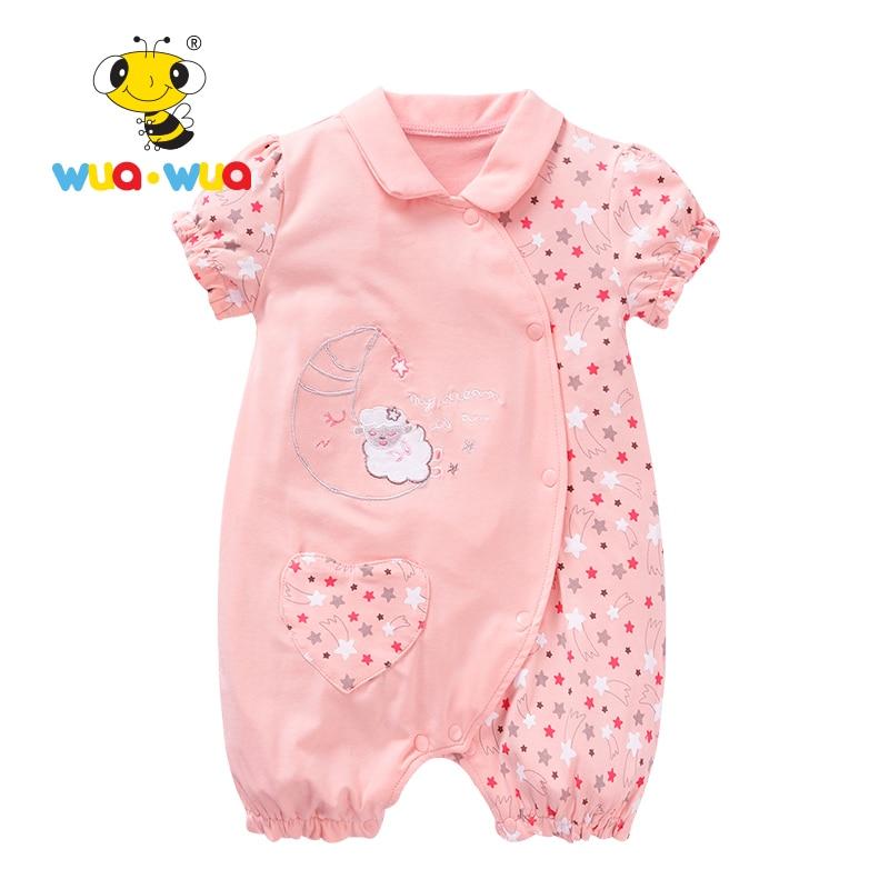 0ccbafdc1ea3 Baby Girl Sommar Kläder Romper Kläder Babykläder Spädbarn Jumpsuits ...