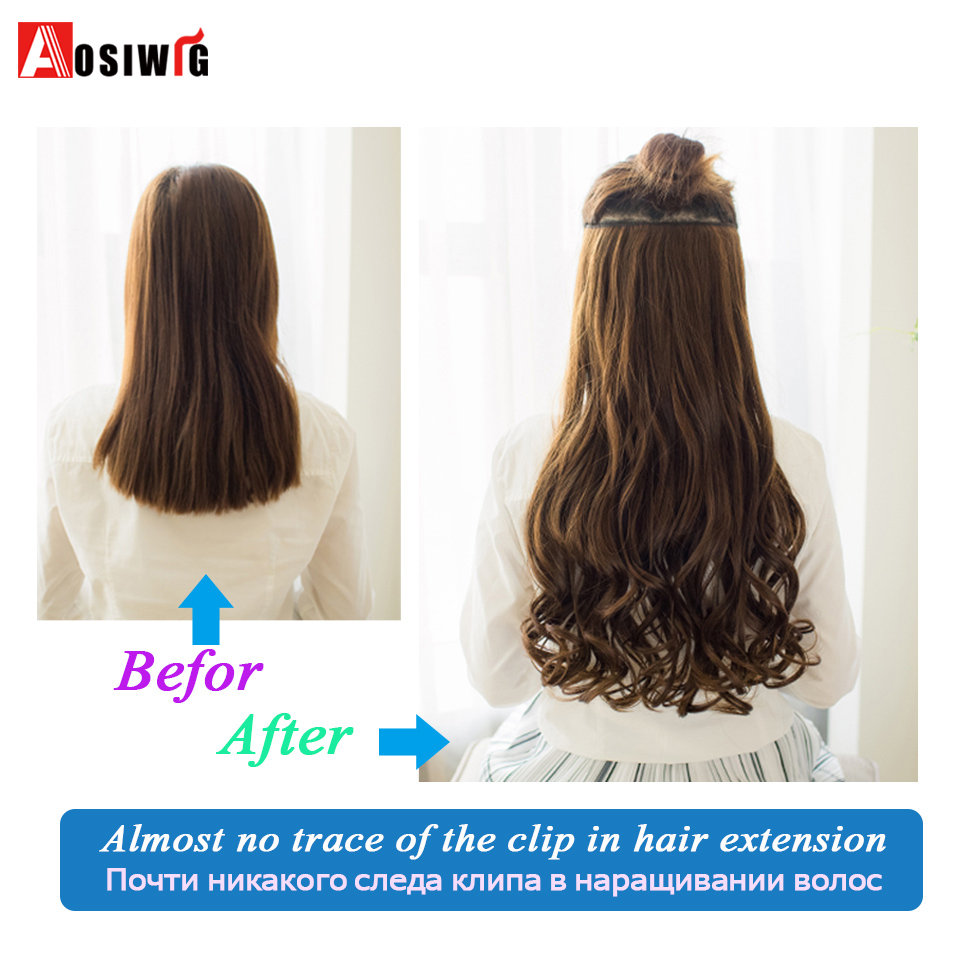 SHANGKE-28-Long-Wavy-5-Clip-In-Hair-Extensions-Heat-Resistant-Synthetic-Fake-Hairpieces-Natural-False (3)