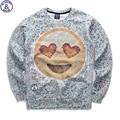 Mr.1991 бренд 12-18 лет большие дети футболка мальчик молодежная мода 3D Emoji печатных толстовки бегуном sportwear подростков девочек W18