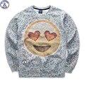 Mr.1991 marca 12-18 años niños grandes sudadera chico juventud moda 3D basculador Emoji impreso hoodies sportwear teens girls W18