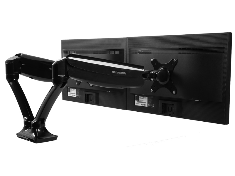 "Aluminiumlegierung Desktop 10 ""-27"" Dual Monitor Halter Voller Motion Computer Montieren Arm Laden 1,5-5kgs Jeder Kopf Dlb502-d"