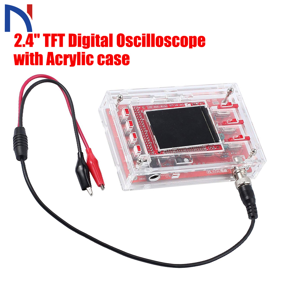 Case DSO138 DS0138 2.4 TFT Pocket-size Digital Oscilloscope Handheld Acrylic DIY Case Cover Shell for DSO138 image