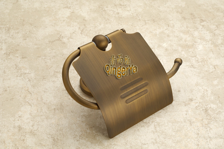 Supply Of Antique European-wide Copper Toilet Paper Holder Toilet Paper Cassette Toilet Tissue Box Metal Pendant A910