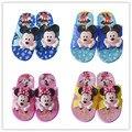 Мальчики тапочки летом флип-флоп сандалии для детей 3D мультфильм Микки минне мальчиков девушки пляжные тапочки детская обувь сандалии