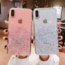 For iphone 6 s 6s plus iphone 8 7plus Case Clear Bling Star Coque Cover Case For iphone XS MAX XR X 10 iphone 7 8 plus cases XR cheap Fitted Case Anti-knock Dirt-resistant Apple iPhones IPHONE 6S iPhone 5s iPhone 7 Plus iPhone SE iPhone 6 Plus iPhone 6s plus