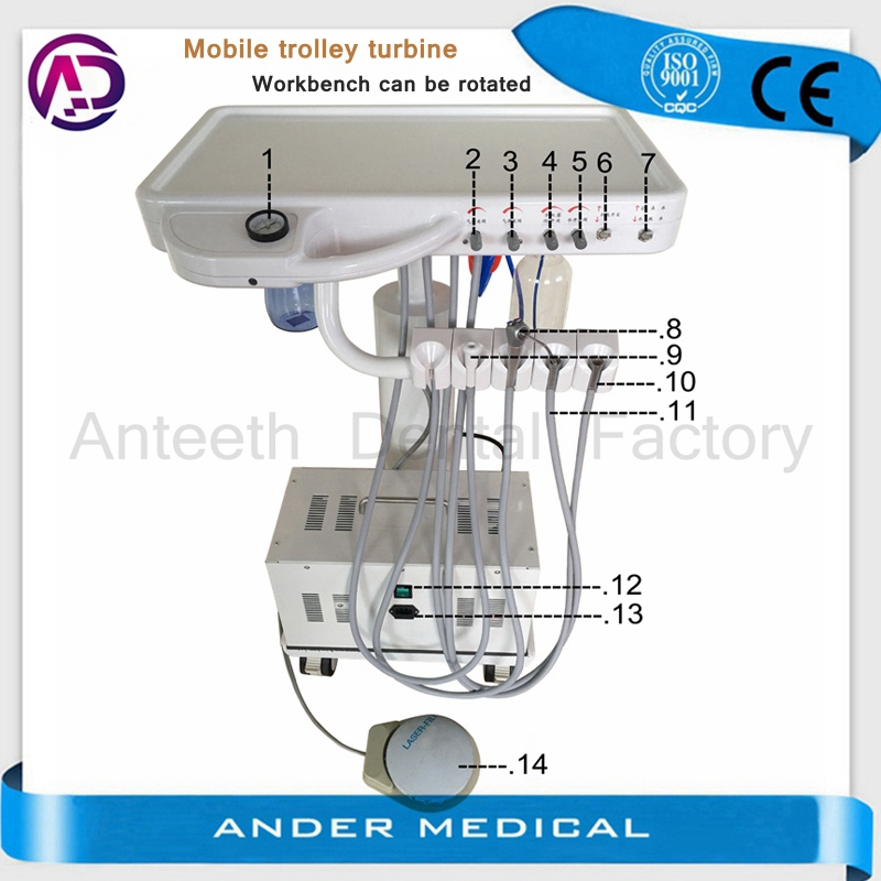 High quality hot sale portable mobile dental treatment unit animal pet veterinary mobile dental unit price