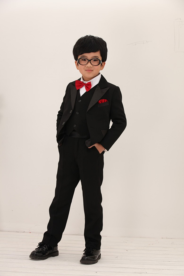 Top Quality 3 Pieces Boys Wedding Suits For Children Kid Tuxedo ...