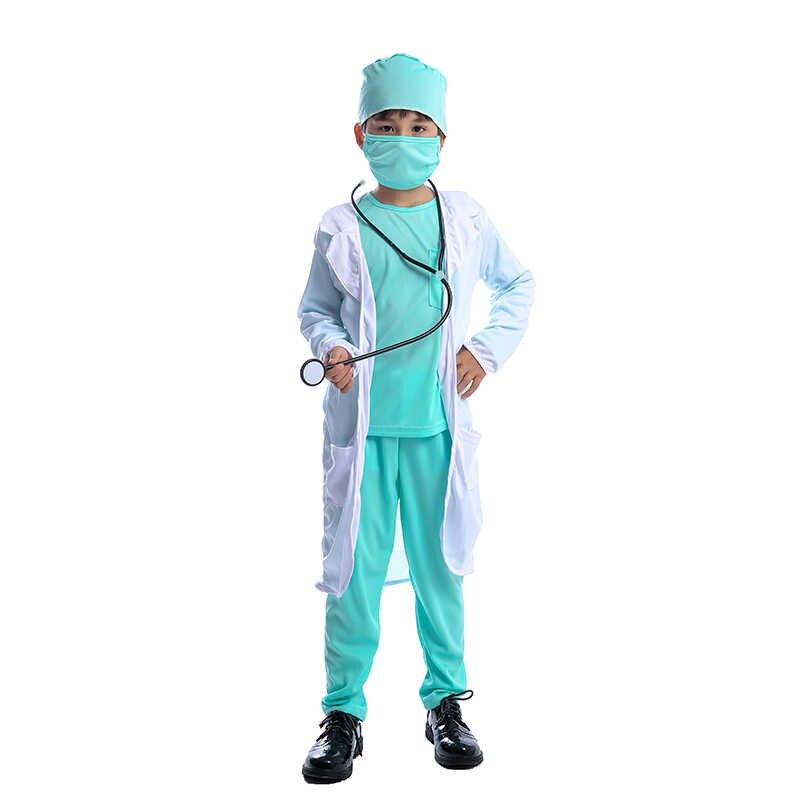 Crianças Médico Cirurgião do Hospital Dr Carreira Uniforme Meninos Criança o Dia Das Bruxas Cosplay