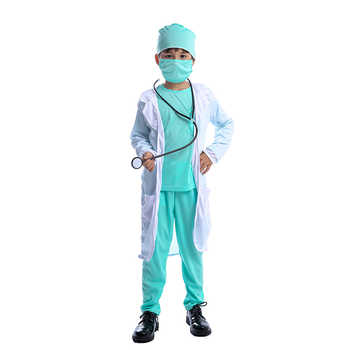 Hospital Doctor Kids Surgeon Dr Uniform Boys Child Career Halloween Cosplay Costume - DISCOUNT ITEM  50% OFF All Category