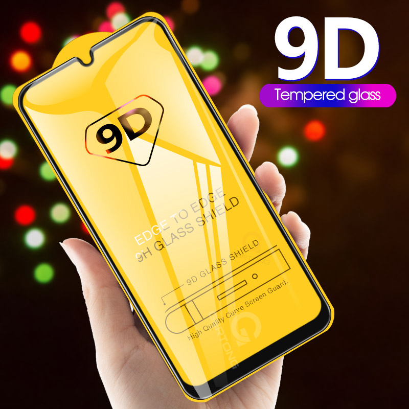 9D Curved Tempered Glass on the For Samsung Galaxy A30 A50 A10 Screen Protector For Samsung M10 M20 M30 M40 A40 A60 A70 A80 A90-in Phone Screen Protectors from Cellphones & Telecommunications