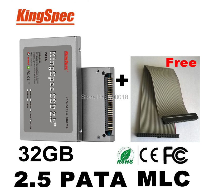 Kingspec 44pin 2.5 pata ssd 32gb 32 MLC 4-Channel  hd ssd ide Solid State Disk Flash Drive Hard Drives dropshipping kingspec 2 5 sata ii mlc nand flash ssd solid state drive 32gb