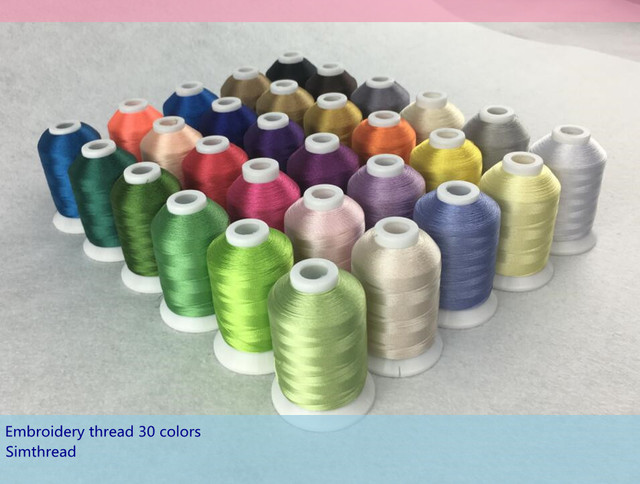 New Arrival Popular 30 Brother Color Embroidery Thread 1000mcone