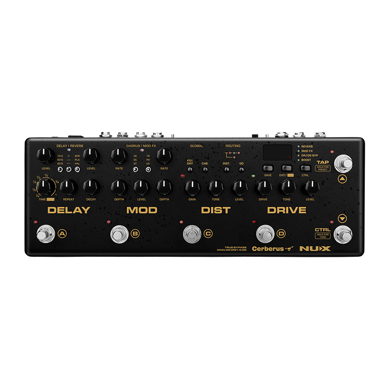 NUX Cerberus Multi effet guitare pédale retard Overdrive distorsion effets de Modulation à l'intérieur du routage chargeur IR 4 méthode de câble