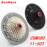 SunRace Bicycle Freewheel CSMX8 CSMX80 11 46T 11 50T 11 Speed Mountain Bicycle Cassette Tool Wide Ratio MTB Freewheel Bike Part
