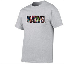 8412aaef6075 2018 neue Mode Marvel Kurzarm t-shirt Männer Superhero druck t-shirt  Oansatz comic Marvel shirts tops männer kleidung T tops