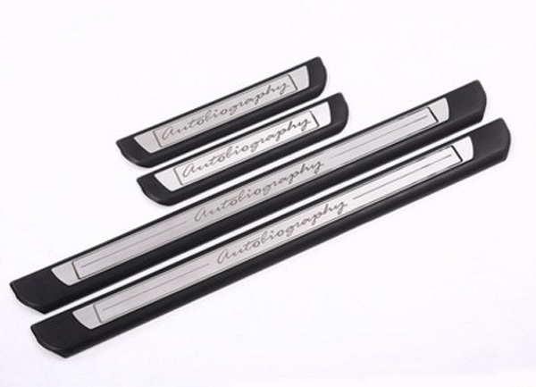 Chrome Original Car Door Sill Scuff Plate Trim Thresholds Guards Sills For Land Rover Discovery 5 2017 2018 Car-styling for land rover range rover sport stainless inside door sill scuff plate 2014 2017 4pcs silver black