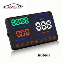 RASTP-M9 HUD 5.5 Дюймов Возглавить Ветровое Стекло Проектор OBD2 EUOBD Вождение Автомобиля Отображения Данных Скорость ОБ/МИН Расход Топлива RS-HUD011