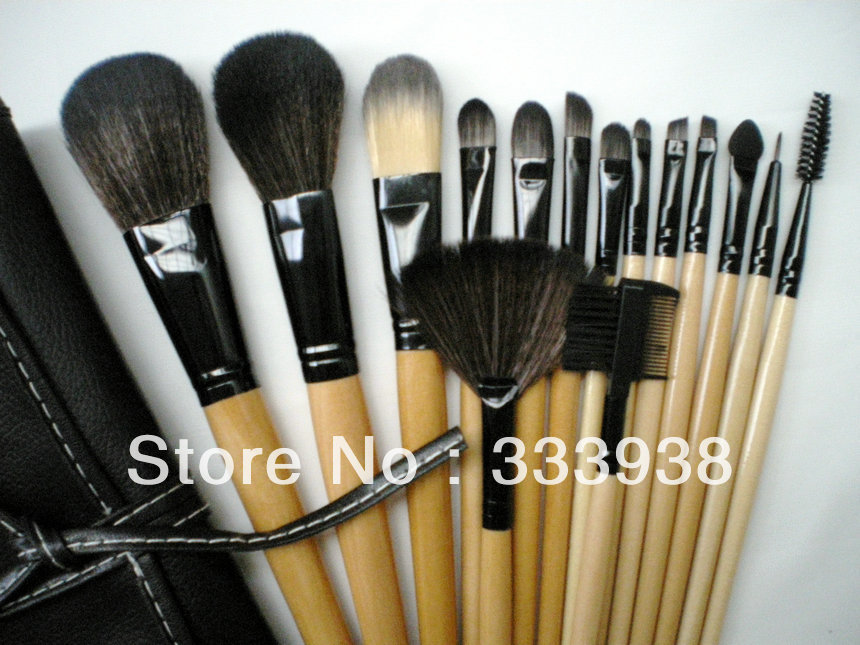 designer bag clearance 6v7k  Free Shipping 15 PCS Set Makeup Brush Set Synthetic Makeup Brush  Professional Cosmetic Set with Cosmetic Bag STOCK CLEARANCE!!