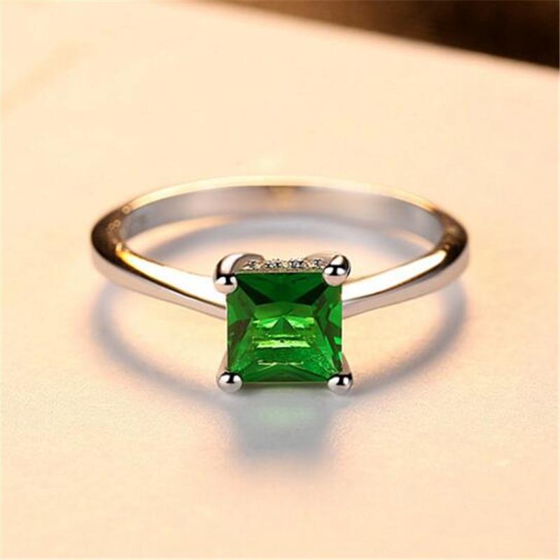 Ataullah Natural Emerald 925 ստերլինգ արծաթե - Նուրբ զարդեր - Լուսանկար 4