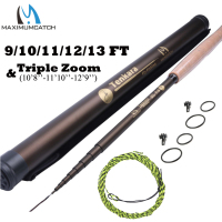 12 13FT 7 3 Telescoping Tenkara Fly Fishing Rod Fast Action 9 Segments Fly Rod