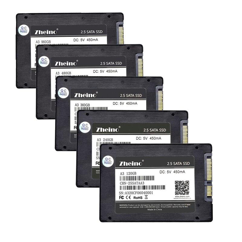 Zheino SSD SATAIII 60 GB 120 GB 240 GB 360 GB 480 GB 960 GB 128 GB 256 GB 512 GB 1 TB 2,5 pulgadas 6 Gbps unidades de estado sólido