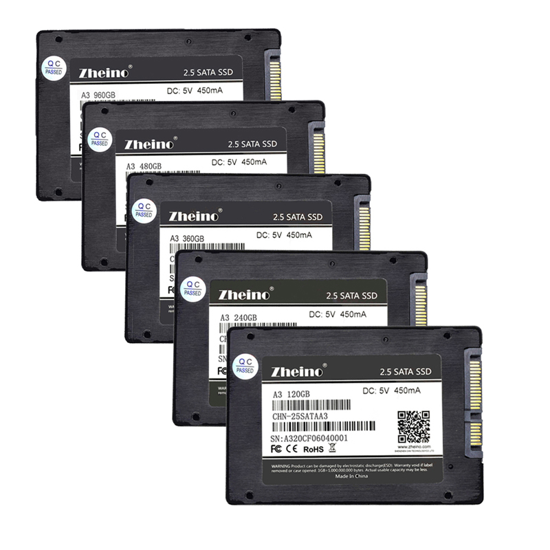 Zheino SSD SATAIII 60 gb 120 gb 240 gb 360 gb 480 gb 960 gb 128 gb 256 gb 512 gb 1 tb 2.5 pouce 6 Gbps Disques Ssd