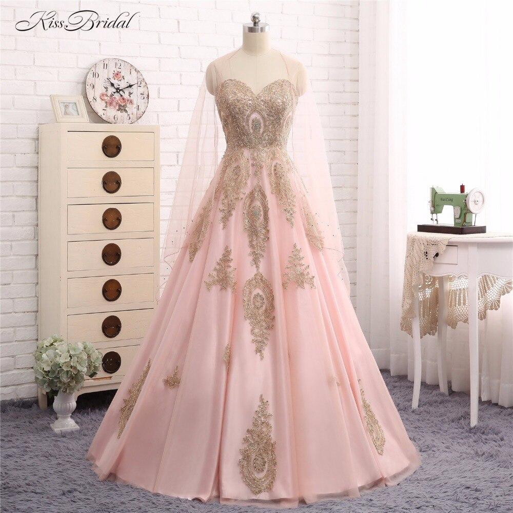 US $110.10 Rosa und Gold Abendkleider mit Jacke Abendkleider A Line Schatz  Ausschnitt Partei Abendkleid Vestido de Festagold evening dressevening