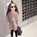 children summer  spring cotton long sleeve t-shirts child baby girls t shirt tops banana letter print Long t-shirts t shirts