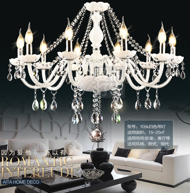Dx Luxtre White Crystal Chandeliers High Quality K9 Chandelier Res Home Decoration Lighting
