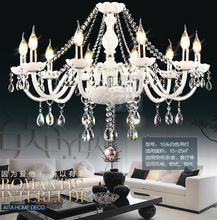 DX Luxtre White Crystal Chandeliers High Quality K9 Crystal Chandelier Lustres Home Decoration Chandelier Lighting