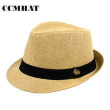 Fedora Hats For Men Fashion Solid Summer Style Chapeau Fedora Hats Caps Cotton Sweat Band Adult Fedora Hat Apparel Accessories