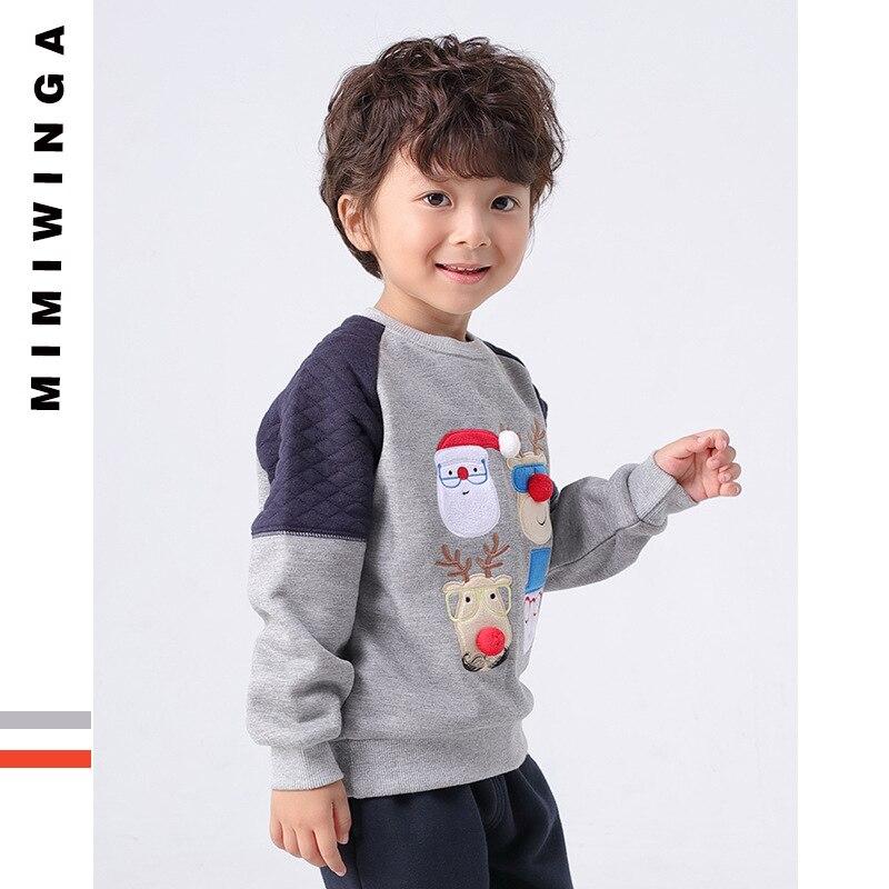 mimiwinga Boys Pullover Sweater Cotton Kids Cartoon Cotton Sweatshirt