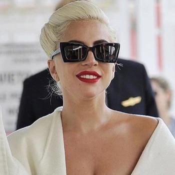 886e82141 Moda Super Star Lady Gaga Gato Olho Óculos De Sol Das Mulheres Dos Homens  2018 Marca de Luxo Designer Praça Shades Óculos de Sol Masculino Óculos 5351
